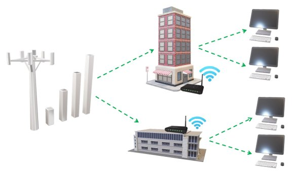 Point to multipoint wireless network image